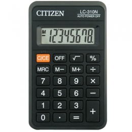 Калькулятор карм. Citizen LC-310N 8разр. (69*115)