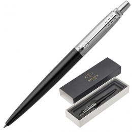 Ручка шар. Parker Jotter Core Bond Street Black CT синяя, черн.корпус, хромир.детали 1953184